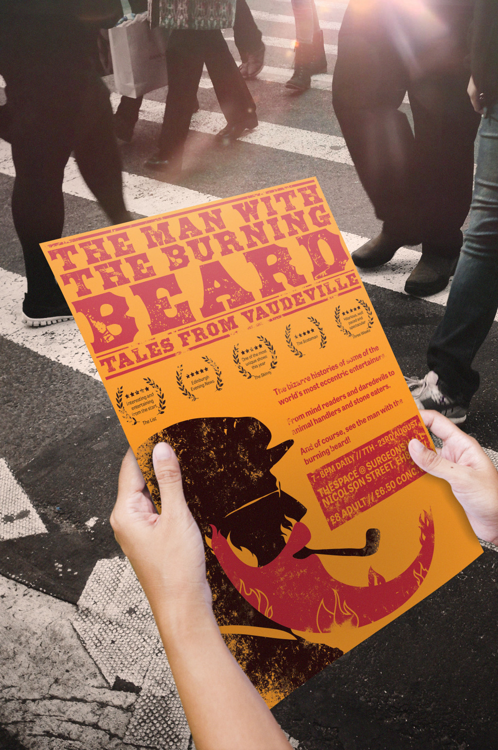 The Man With The Burning Beard - Poster