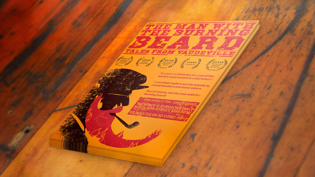 The Man With The Burning Beard - Flyer