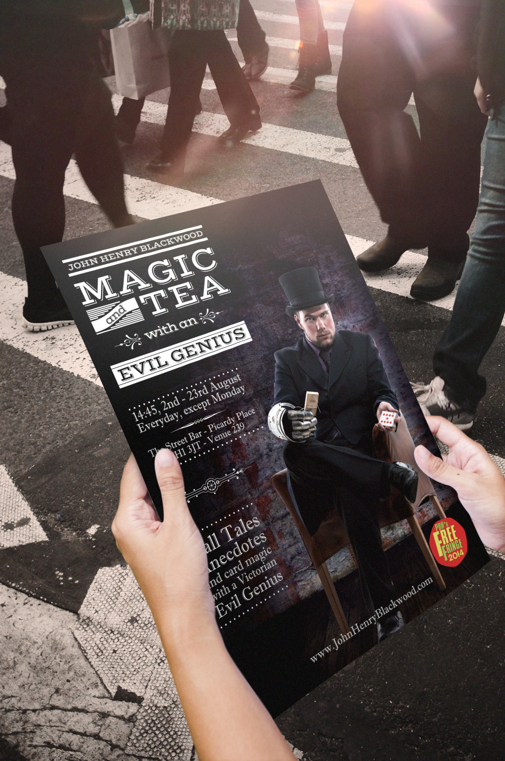 Magic and Tea with an Evil Genius - Flyer